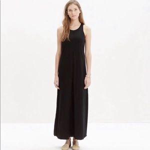 NWT Madewell Black Cotton Tank Maxi Dress Size 8